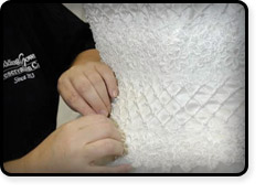 Wedding Dress Cleaning - Hand Repair