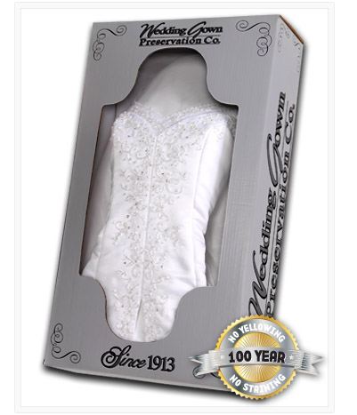 Celebrity wedding gown preservation kit for Wedding dress preservation company